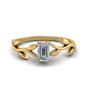 Emerald Cut Solitaire Ring
