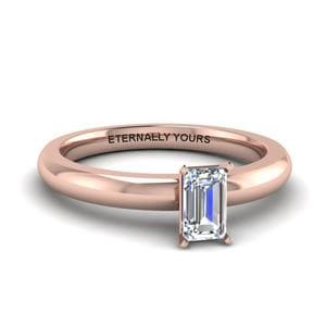 Classic Solitaire Emerald Cut Ring