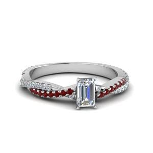 Infinity Twist Ruby Ring