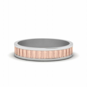 Brushed 2 Tone Wedding Band