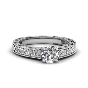 0.75 Carat Diamond Pave Vintage Ring