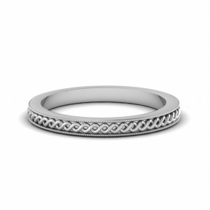 Engraved Twisted Rope Wedding Band