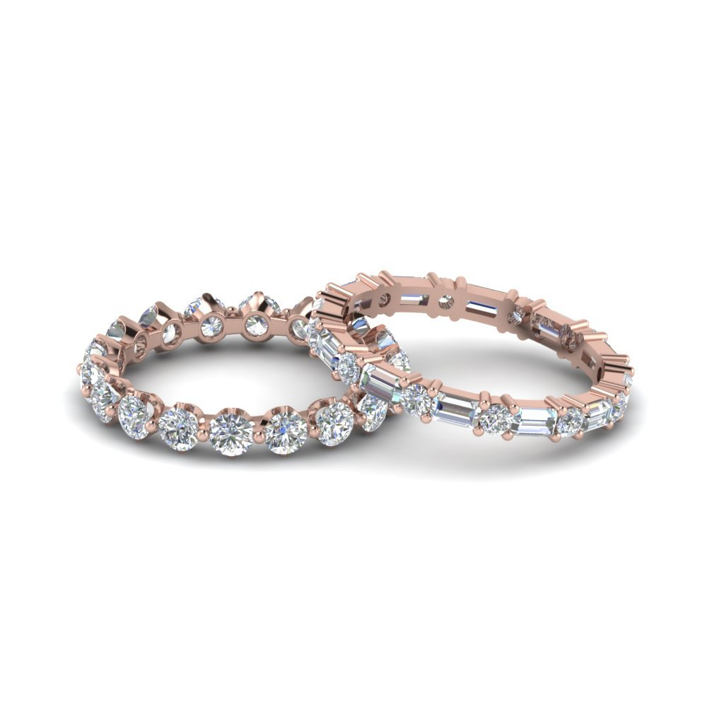 Eternity Diamond Stacked Bands