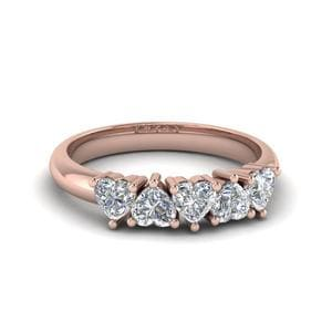 14K Rose Gold 5 Stone Band