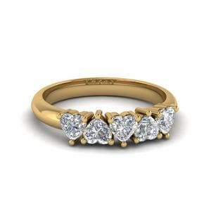 Five Diamond Band 18K Yellow Gold