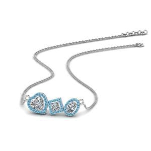 Platinum Blue Topaz Necklace