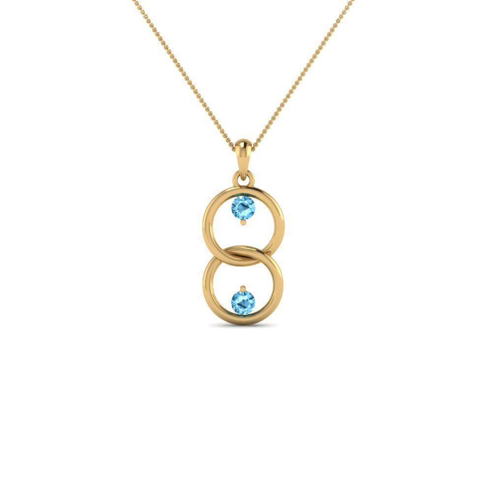 Fancy Open Circle Topaz Neclace