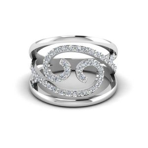 Fashion Open Swirl Diamond Ring
