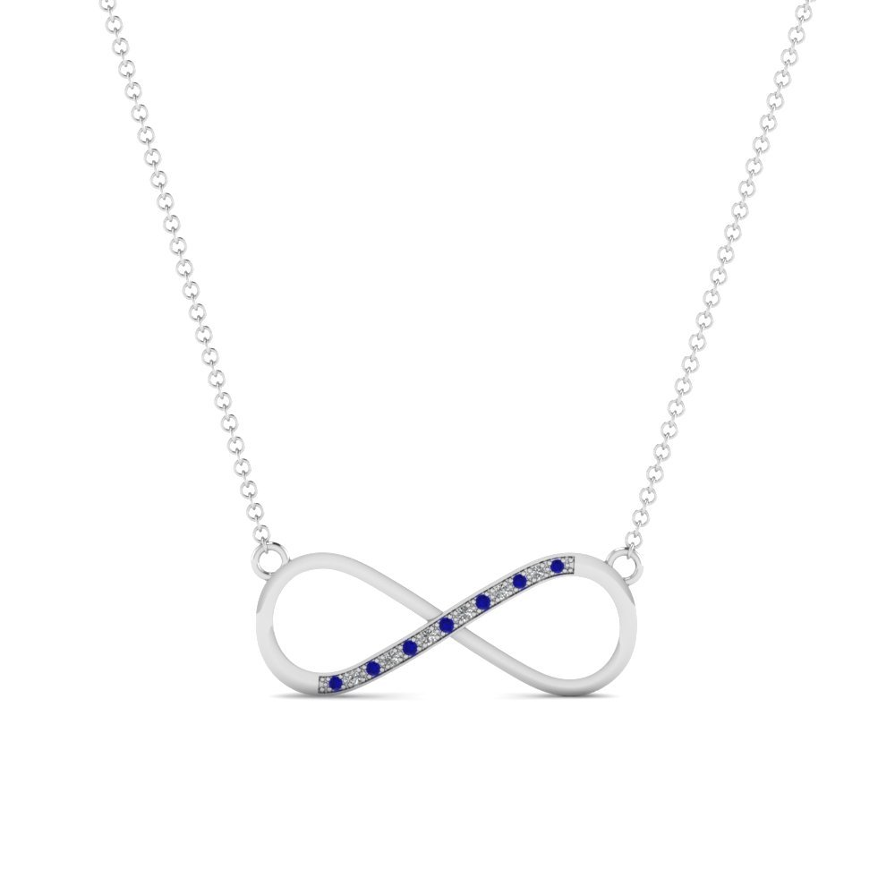 Affordable Infinity Sapphire Pendant