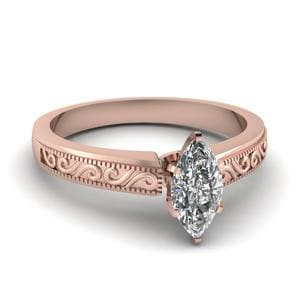 Filigree Marquise Diamond Ring
