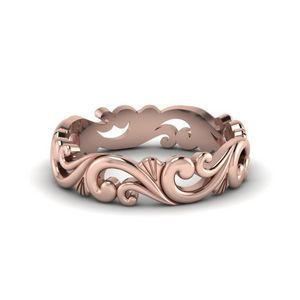 Filigree Gold Womens Band