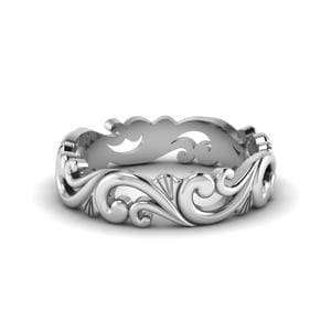 Filigree Women Wedding Band