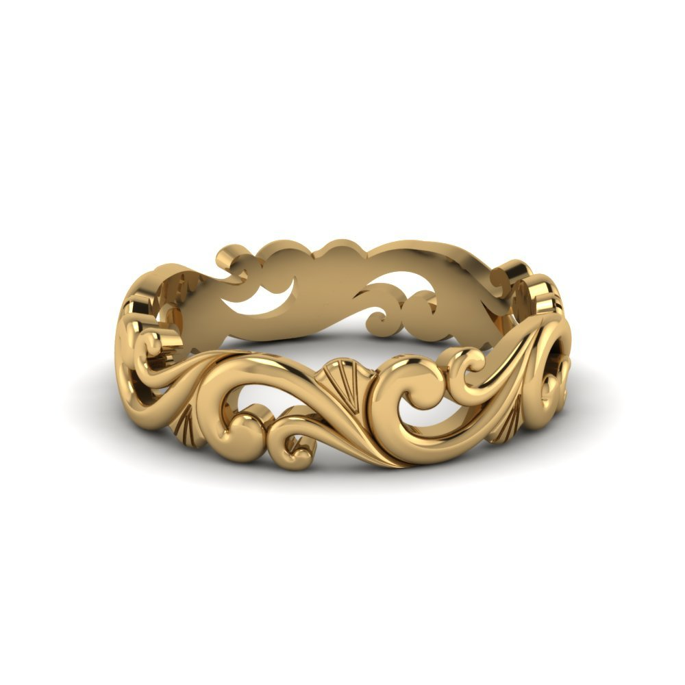 18K Yellow Gold Womens Band