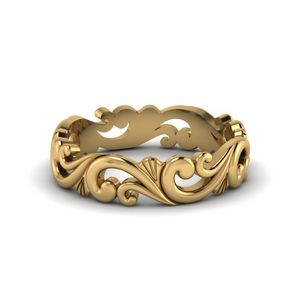 Filigree Gold Wedding Band Gift