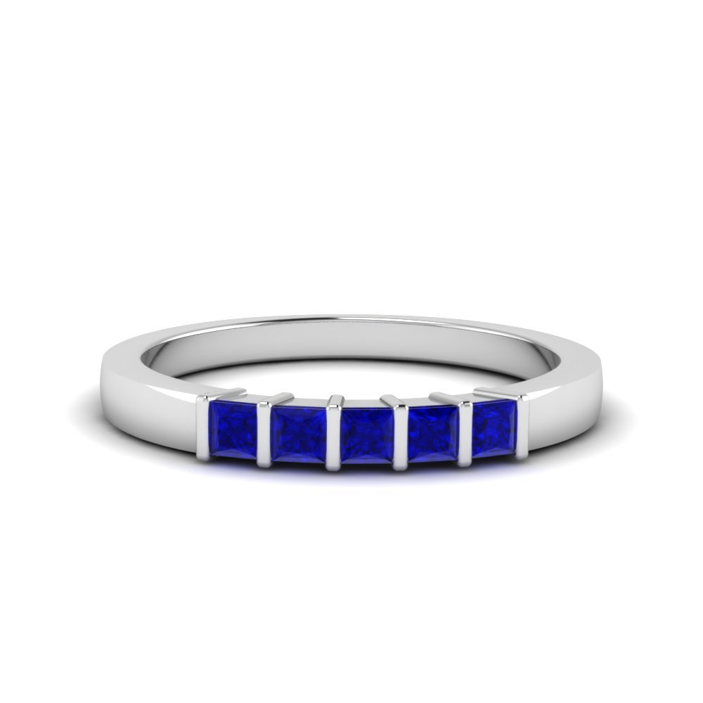 Sapphire Five Stone Wedding Band