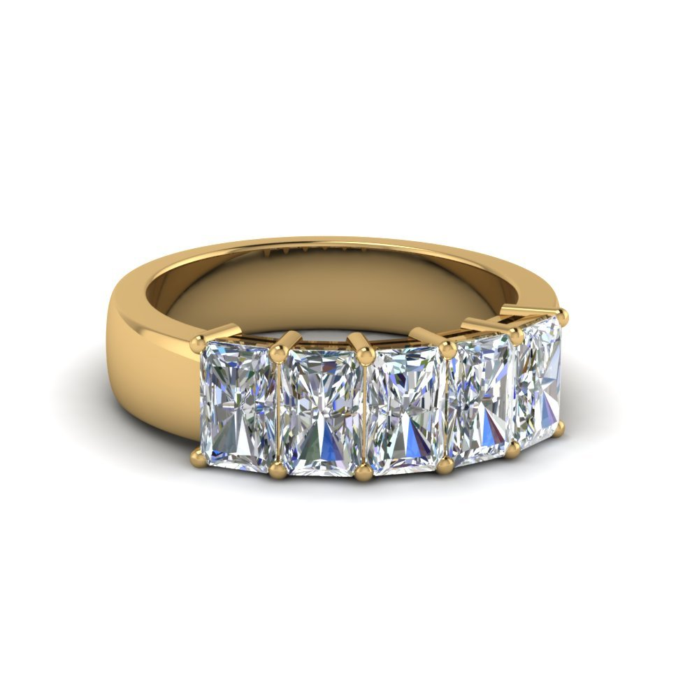5 Stone Radiant Diamond Band 2 Ct.