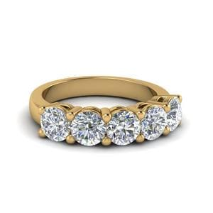 2 Ct. Five Stone Wedding Anniversary Ring
