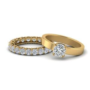 Flat Cushion Diamond Eternity Set