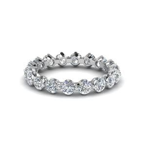 Floating Diamond Eternity Band For Women