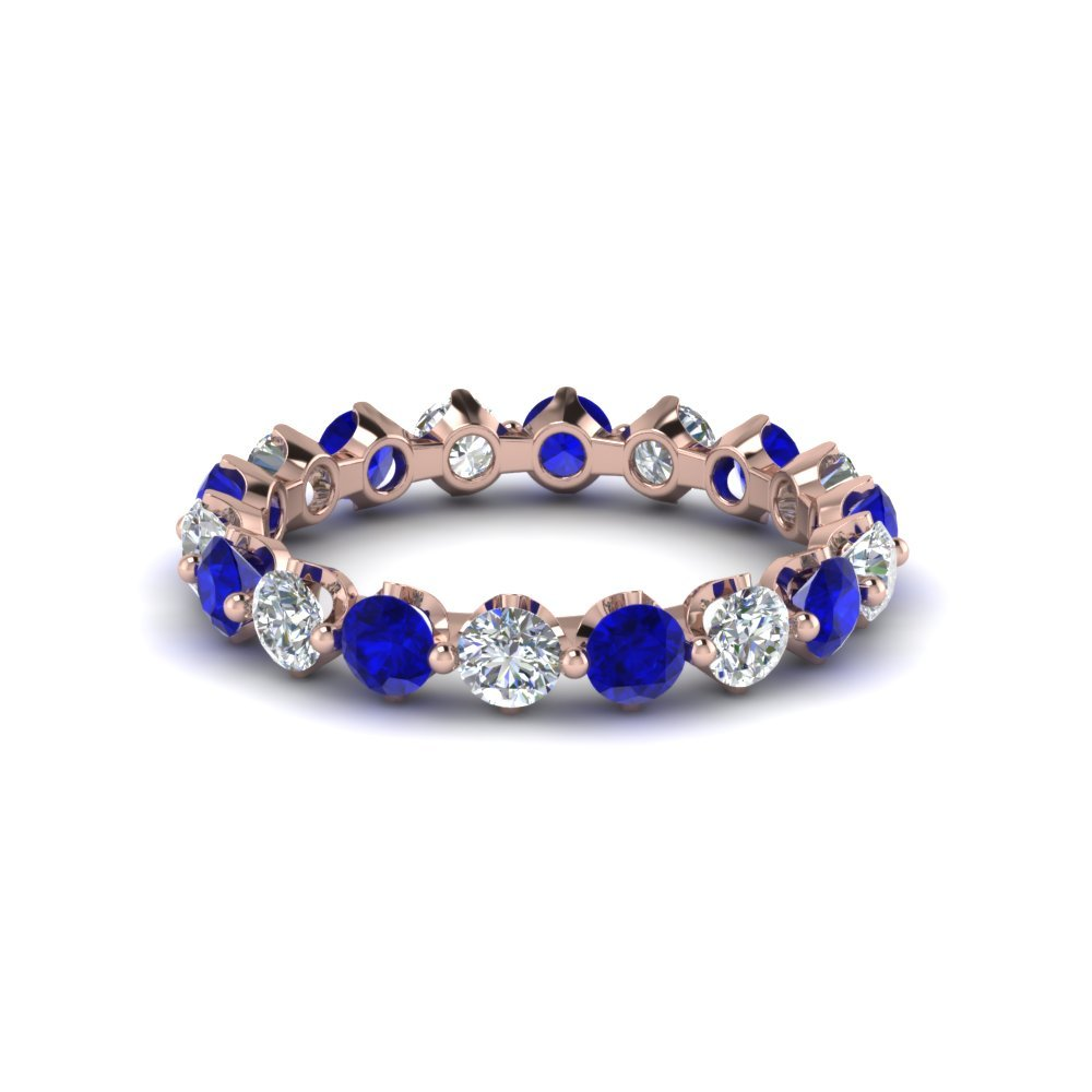 Floating Sapphire Eternity Band