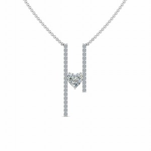 Floating Diamond Necklace For Her