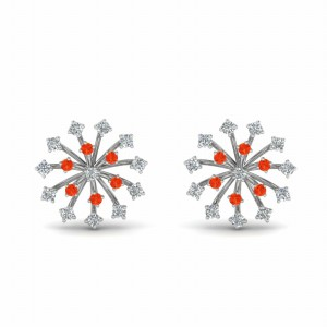 Sterling Silver Orange Topaz Earring