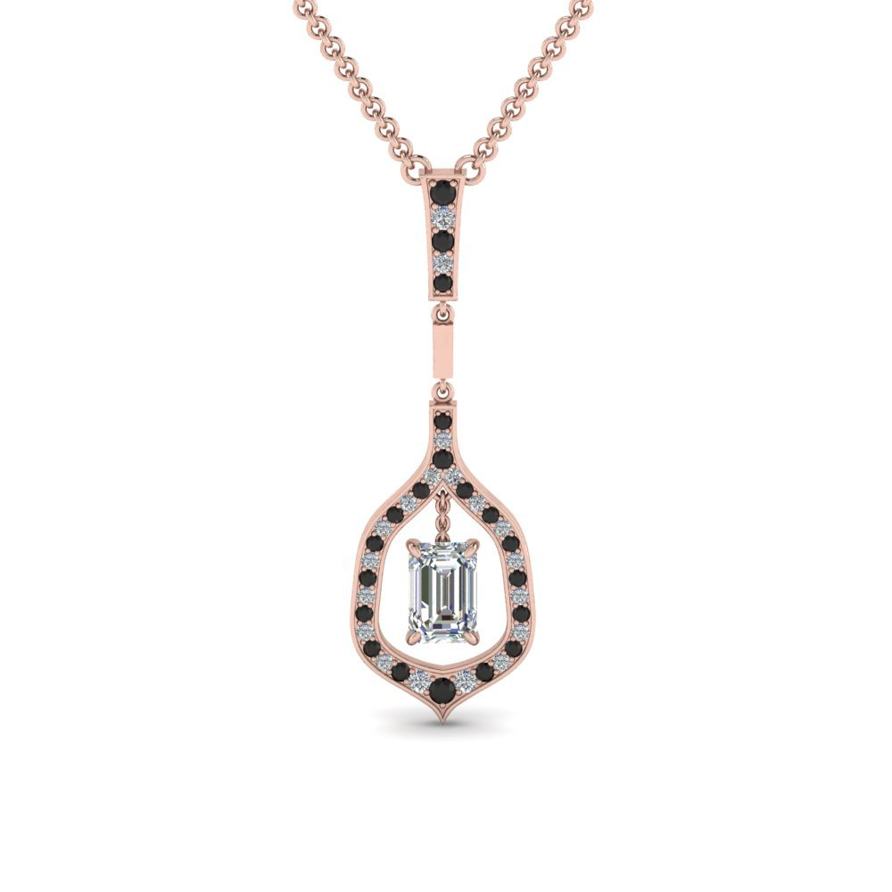 Pave Black Diamond Necklace