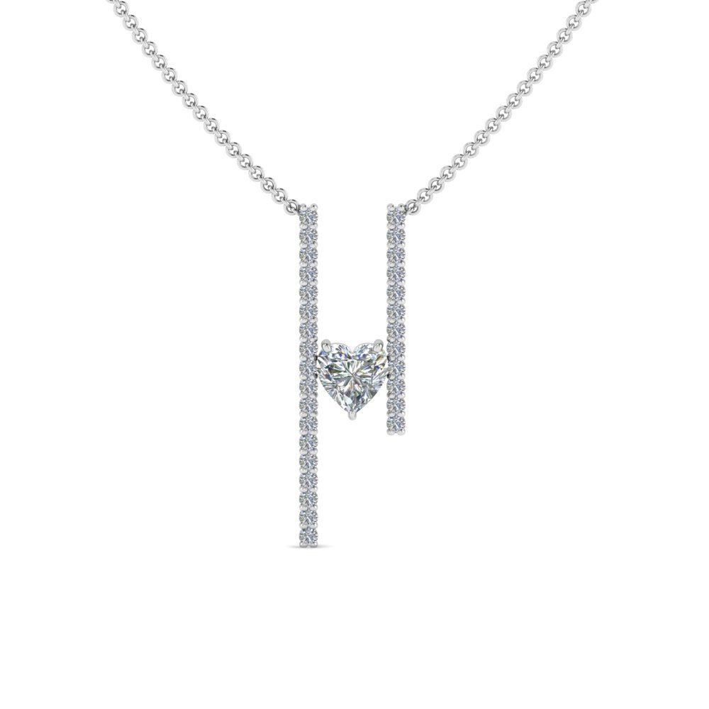 Floating Diamond Bar Necklace