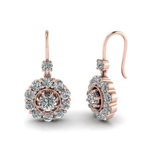 Floral Diamond Dangle Earring