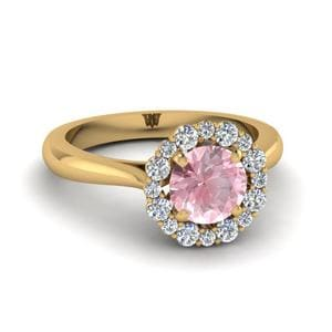 Floral Halo Morganite Ring