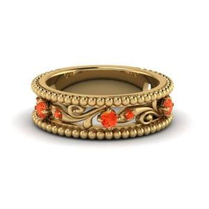 Antique Orange Topaz Band