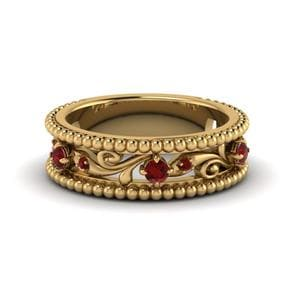Vintage Ruby Wedding Band