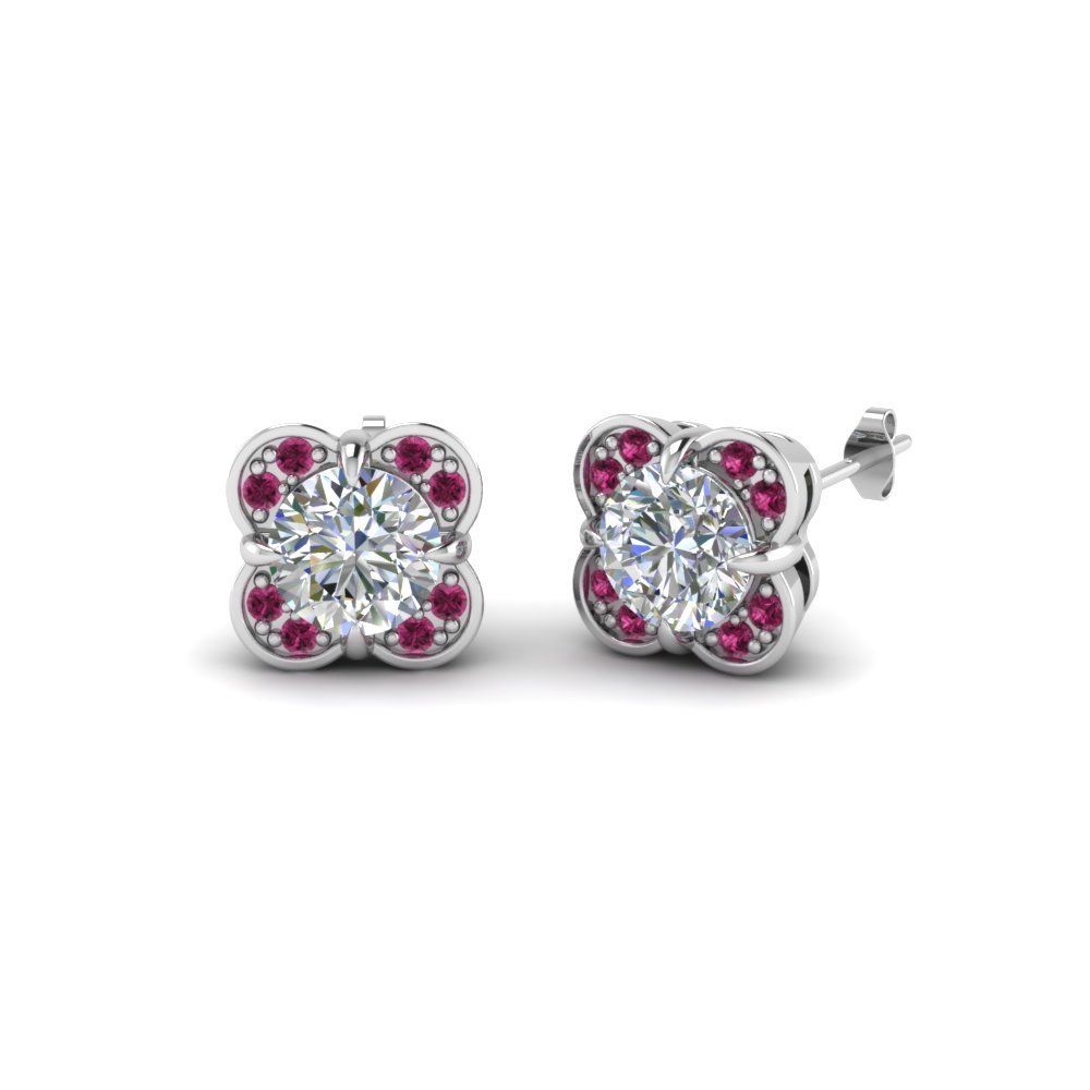 Floral Stud Diamond mothers Earring