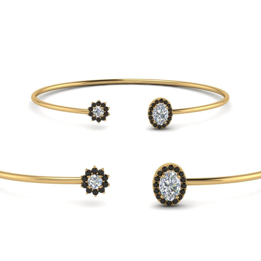 Black Diamond Yellow Gold Bracelet