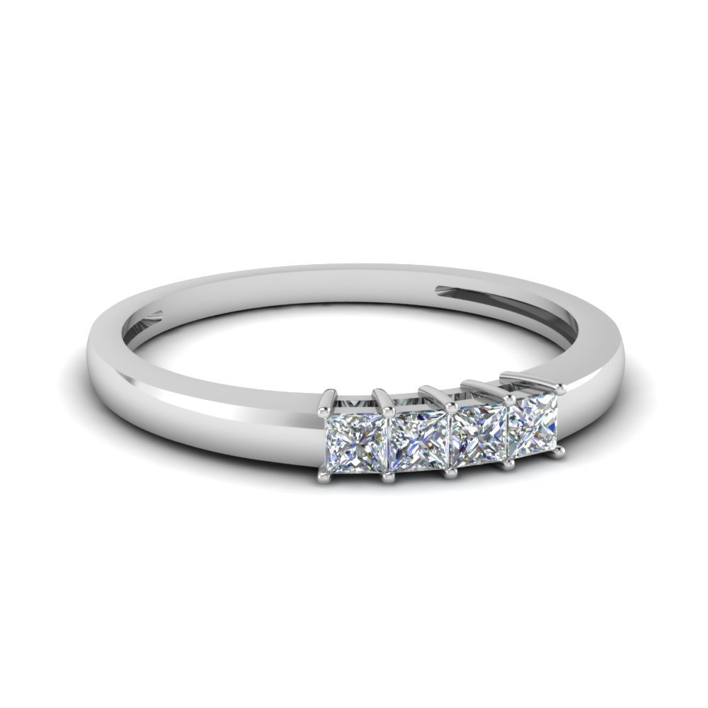 4 Princess Cut Anniversary Band For Her