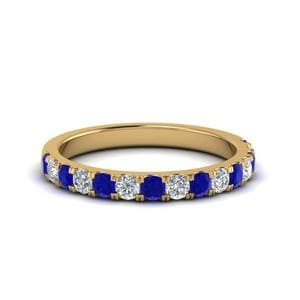 Sapphire Diamond Wedding Band