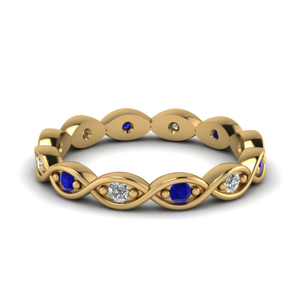 Sapphire Infinity Symbol Eternity Band