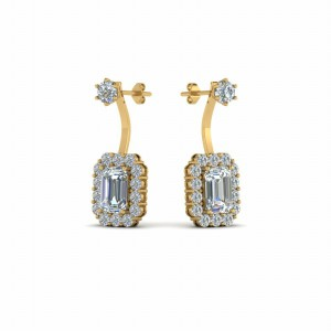 Front Back Diamond Earring For Womens