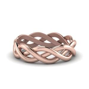 Braided Eternity Band In 18K Rose Gold