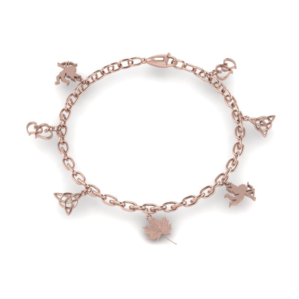 Love Symbol Gold Charm Bracelet for mom