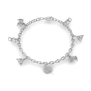 Love Symbol Charm Bracelet In 14K White Gold