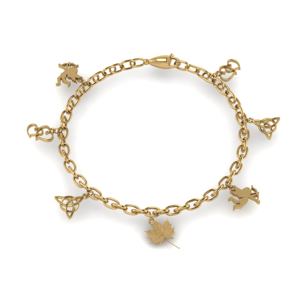 Gold Charm Bracelet For Girls