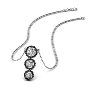 Sterling Silver Black Diamond Pendant