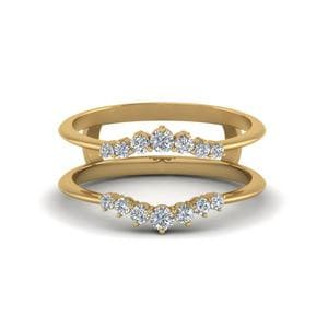 Graduated Diamond Ring Guards In 14K Yellow Gold