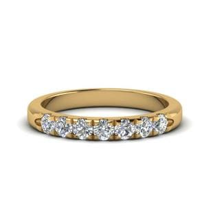 Half Carat 7 Diamond Wedding Ring