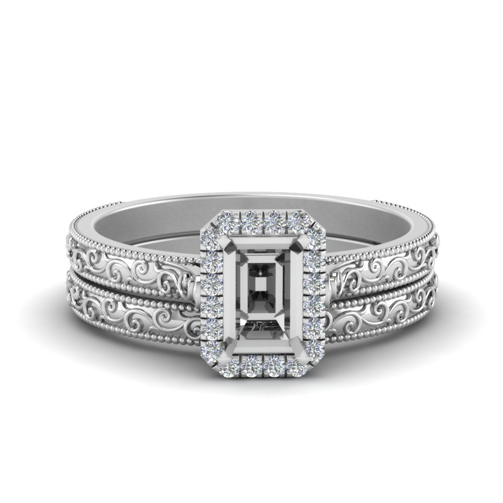 Halo Wedding Ring Setting Only