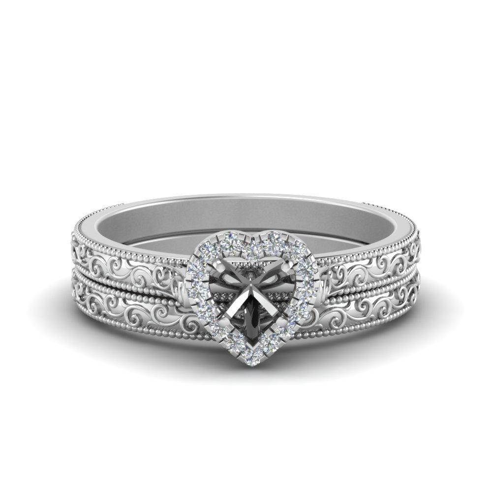 Platinum Wedding Ring Setting Only