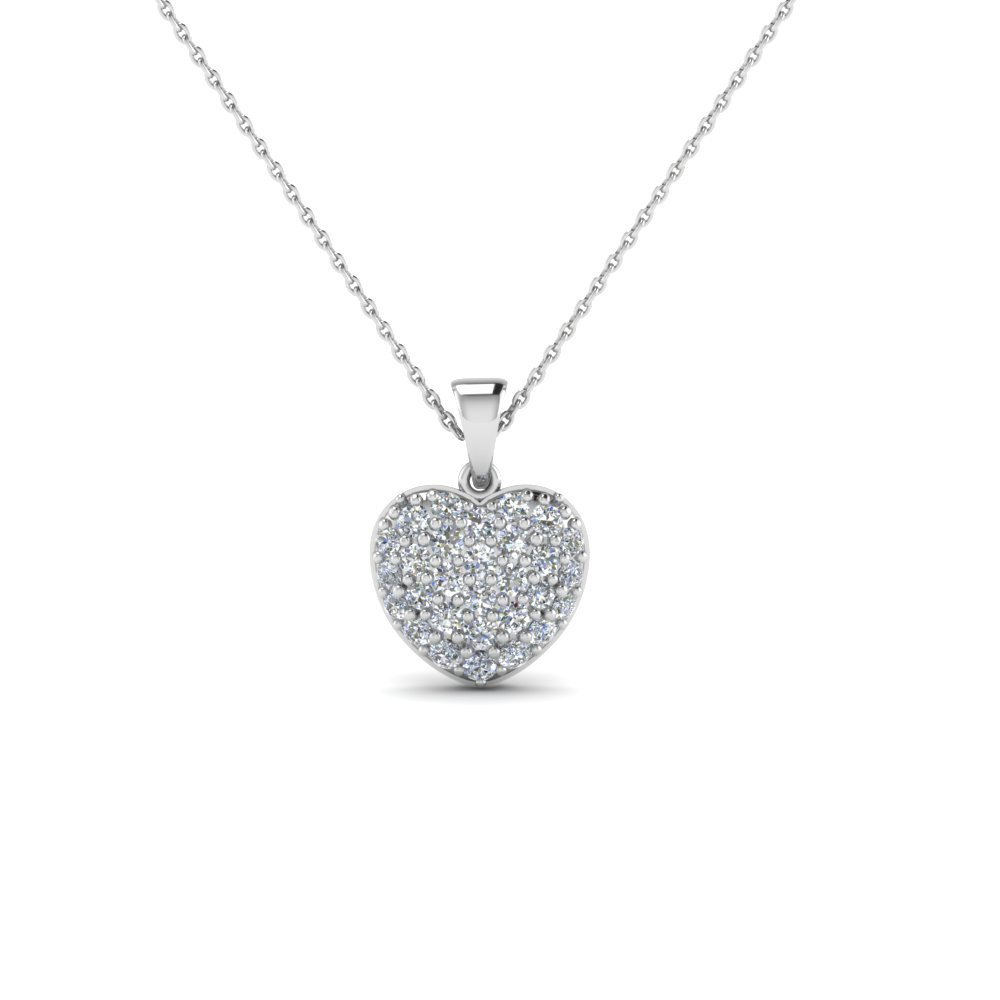 Heart Shaped Diamond Gold Pendant Necklace