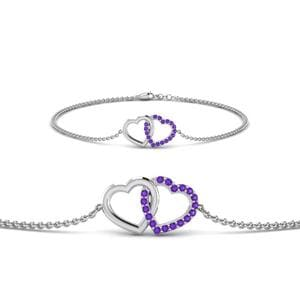 Platinum Purple Topaz Bracelet
