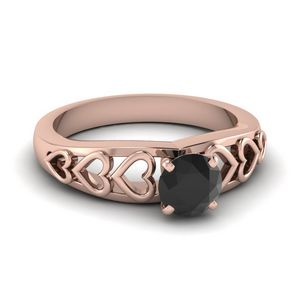 Unique Black Engagement Ring
